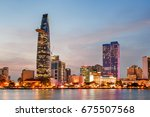 ho chi minh city skyline and... | Shutterstock . vector #675507568