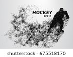 hockey from the particles.... | Shutterstock .eps vector #675518170