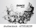 dance of the particles. girl... | Shutterstock .eps vector #675518239