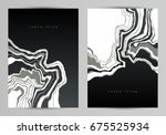 black marble wall texture and... | Shutterstock .eps vector #675525934