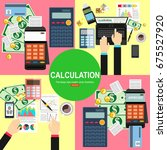 calculation concept.... | Shutterstock .eps vector #675527920