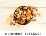 Mixed Nuts And Dried Fruit In...