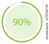vector illustration green round ... | Shutterstock .eps vector #675536743