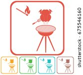 grilled chicken icon. vector... | Shutterstock .eps vector #675546160