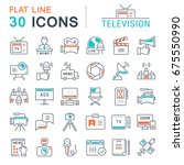 set of line icons  sign and... | Shutterstock . vector #675550990