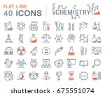 set of line icons  sign and... | Shutterstock . vector #675551074
