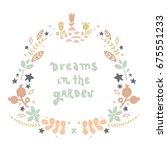 vector lettering with flower... | Shutterstock .eps vector #675551233