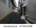 Old Narrow Street With...
