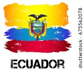 flag of ecuador from brush... | Shutterstock .eps vector #675562078