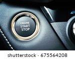 engine start stop button | Shutterstock . vector #675564208