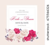 wedding invitation cards with... | Shutterstock .eps vector #675566326