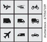 set of 9 editable transport...