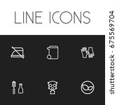 set of 6 editable cleanup icons....