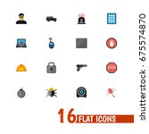 set of 16 editable safety icons....