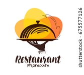 restaurant logo. icon or symbol ... | Shutterstock .eps vector #675577126