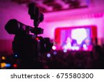 video camera at the concert.... | Shutterstock . vector #675580300