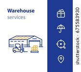 warehouse building with... | Shutterstock .eps vector #675583930
