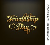 illustration of friendship day. | Shutterstock .eps vector #675586420