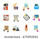head hunting icon set | Shutterstock .eps vector #675592033