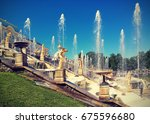 peterhof  russia   june 16 ... | Shutterstock . vector #675596680