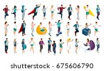 isometrics set of vector... | Shutterstock .eps vector #675606790