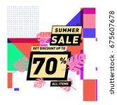summer sale beautiful web... | Shutterstock .eps vector #675607678