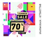summer sale beautiful web... | Shutterstock .eps vector #675607768