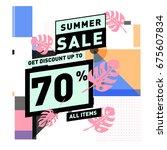 summer sale beautiful web... | Shutterstock .eps vector #675607834