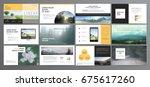 original presentation templates.... | Shutterstock .eps vector #675617260