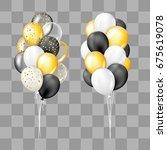 black  white  gold  transparent ... | Shutterstock .eps vector #675619078