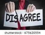 businessman tearing up a sign... | Shutterstock . vector #675620554