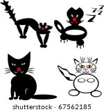 cats on isolated background.... | Shutterstock .eps vector #67562185