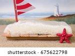 a newborn photography prop of a ... | Shutterstock . vector #675622798