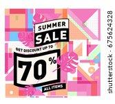 summer sale beautiful web... | Shutterstock .eps vector #675624328