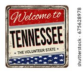 welcome to tennessee vintage... | Shutterstock .eps vector #675628978