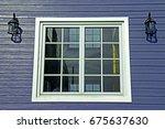 modern style wooden house | Shutterstock . vector #675637630