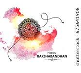 vector abstract for raksha... | Shutterstock .eps vector #675641908