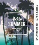 tropical summer background | Shutterstock .eps vector #675653869