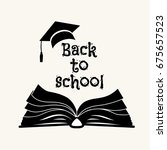 back to school greeting card... | Shutterstock .eps vector #675657523