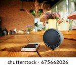 bluetooth speaker with smart... | Shutterstock . vector #675662026