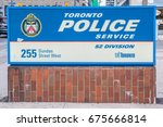 Small photo of TORONTO, CANADA - JUNE 30, 2017: Sign of 52 Division Police Station at 255 Dundas near China Town in Toronto. 52 Division is the smallest Division but remains one of the busiest in the city.
