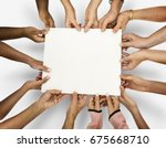 group of diverse people... | Shutterstock . vector #675668710