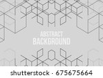 vector abstract boxes... | Shutterstock .eps vector #675675664