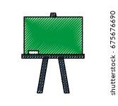 chalkboard school isolated icon | Shutterstock .eps vector #675676690