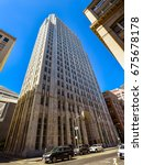 Small photo of San Francisco,CA-Sep 6, 2015: Completed in 1925, the PacBell Bldg. was the tallest in the city until the Russ Bldg. matched its height in 1927. As of 2013 its main tenant is the Internet company Yelp.