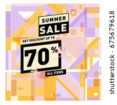 summer sale beautiful web... | Shutterstock .eps vector #675679618