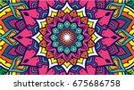 vector mandala ornament  floral ... | Shutterstock .eps vector #675686758