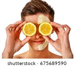 facial mask from fresh fruits... | Shutterstock . vector #675689590