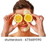 facial mask from fresh fruits... | Shutterstock . vector #675689590