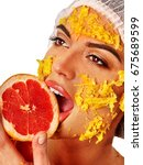 facial mask from fresh fruits... | Shutterstock . vector #675689599